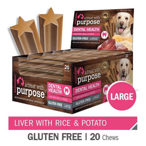 """""""A Dental treat with purpose"""" Liver with Rice & Potato Large"""
