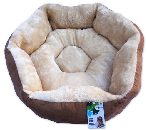 Large 'Sweetest Dreams' Comfy Hexagon Dog Bed