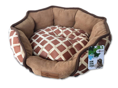 Reversible 'Chocolate Comfort' Round Fur Pet Bed