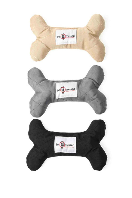 Durable Tough Fabric Squeaking Bone Dog Toy