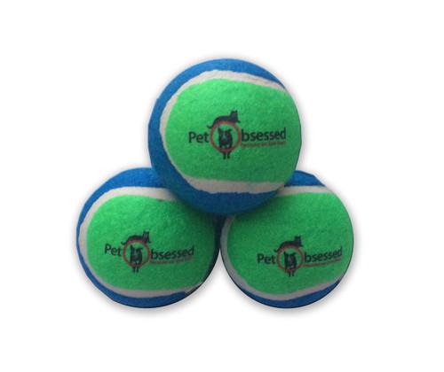 Budget Three Colourful Dog Fetch Tennis Balls