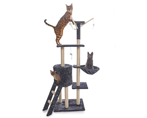 JAK Medium Cat Scratching Post With Mouse Toys