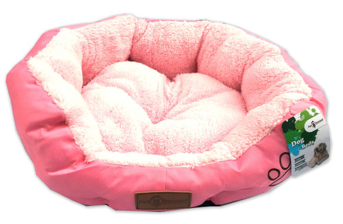 Reversible PetObsessed Princess Pink Round Dog Bed