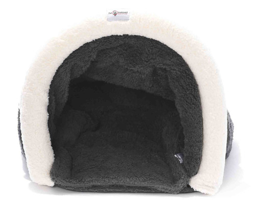The Luxury Warm Nestle Soft Pet Cave Bed with Mat