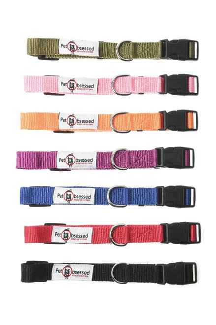 Premium Adjustable Nylon Dog Collar (Available in 7 colours)