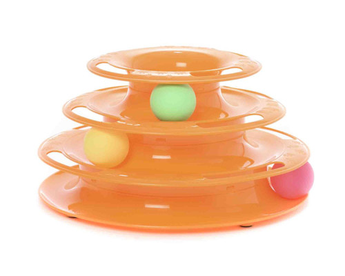 Triple Tower 'Multple Ball Chaser' Cat Ring Toy
