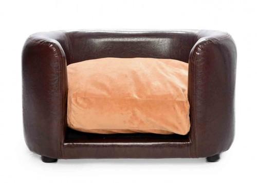 'Chocolate Indulgence' PVC Leather Luxury Calming Pet Sofa