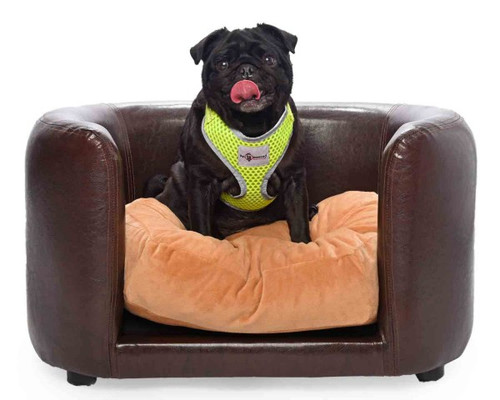 'Chocolate Indulgence' PVC Leather Pet Sofa