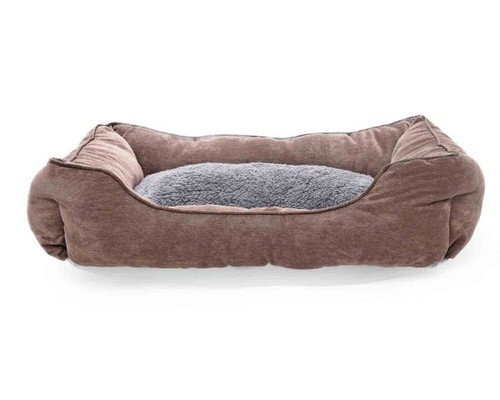 The Pet Obsessed Luxury Brown Soft Quality Light Pet Bed