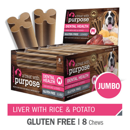 """A Dental treat with purpose"" Liver with Rice & Potato Jumbo"