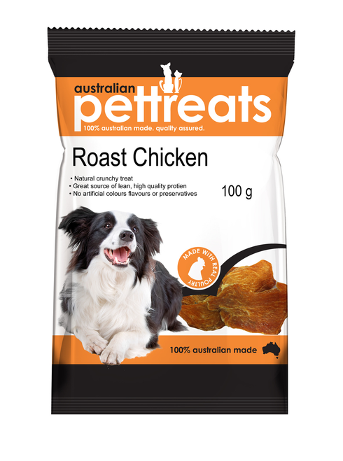 Natural Chewy High In Protein roast Chicken 100g