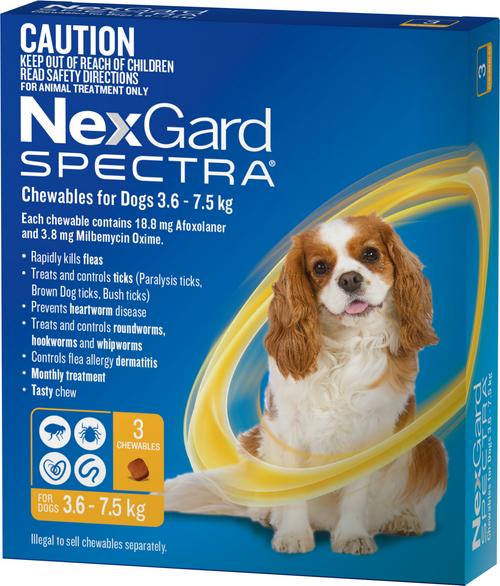 Nexgard Spectre 3 pack Small dog 3.6 - 7.5KG