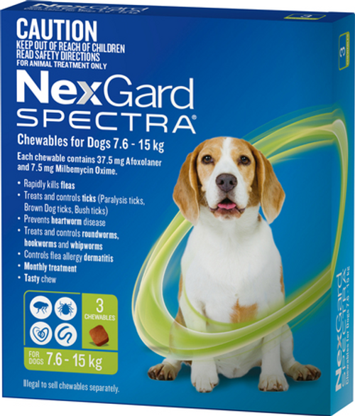 Nexgard Spectre 3 pack Medium dog 7.6 - 15KG