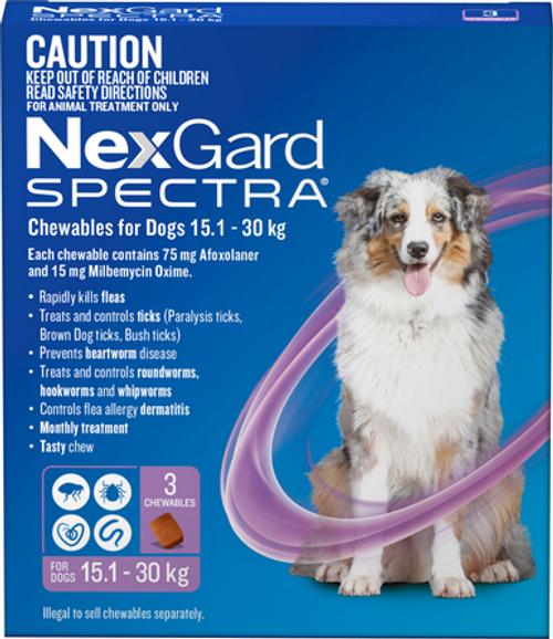 Nexgard Spectre 3 pack Large dog 15.1 - 30KG