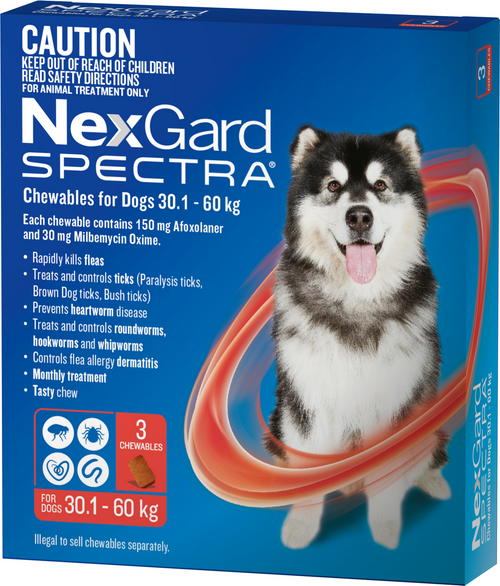 Nexgard Spectre 3 pack Very Large dog 30.1 - 60KG