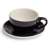 Renaissance Cup & Saucer, 10 oz, Black