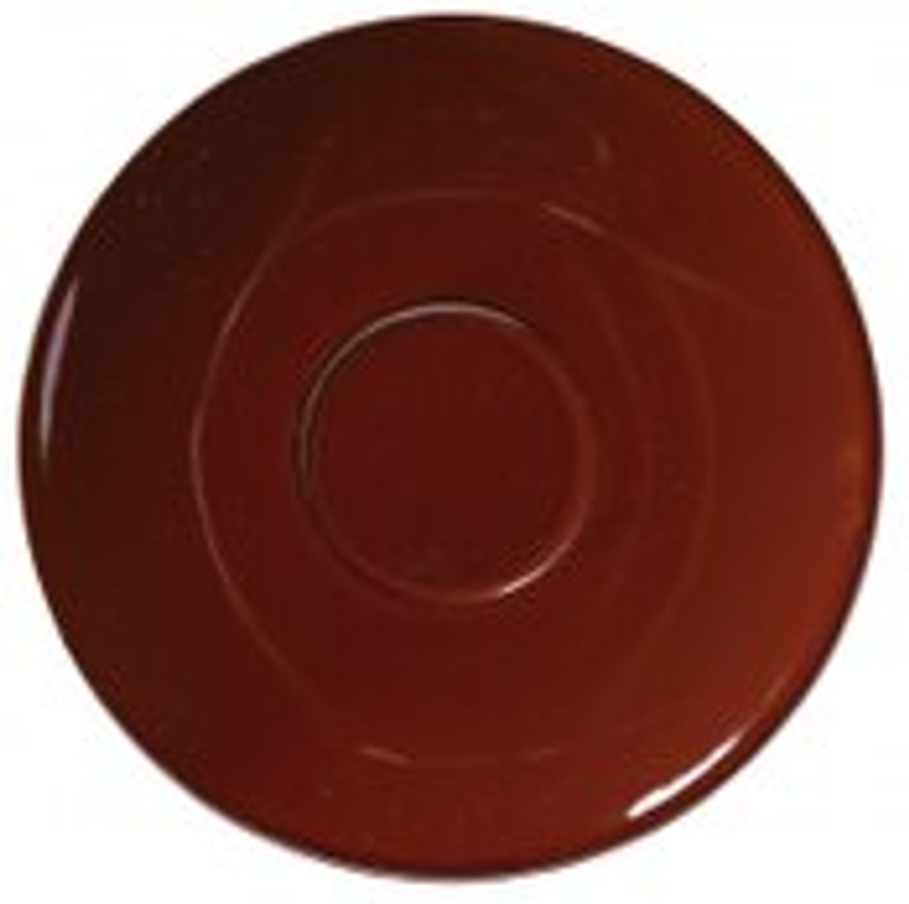 "Revolution Revware Saucer, 4.5"", brown"