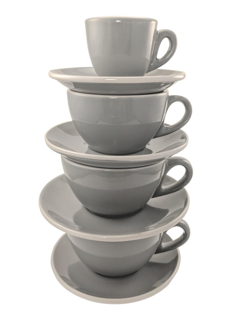 Revolution Classic Cup & Saucer Set, Gray