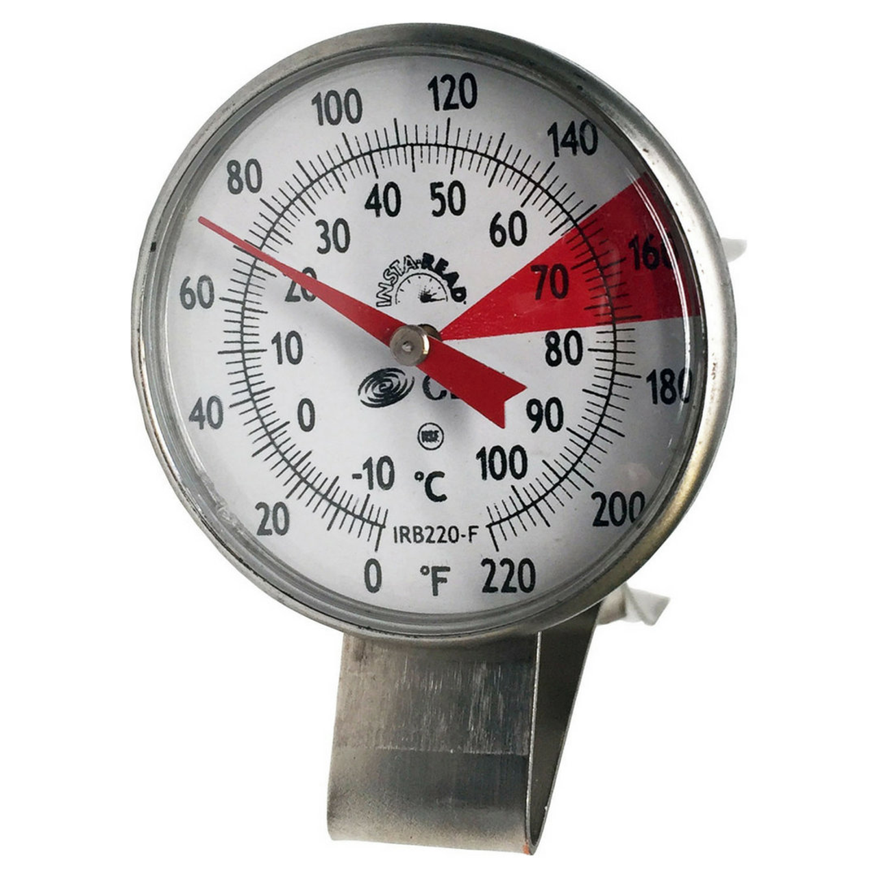 """Thermometer: 1.75"""" face, 7'' stem"""