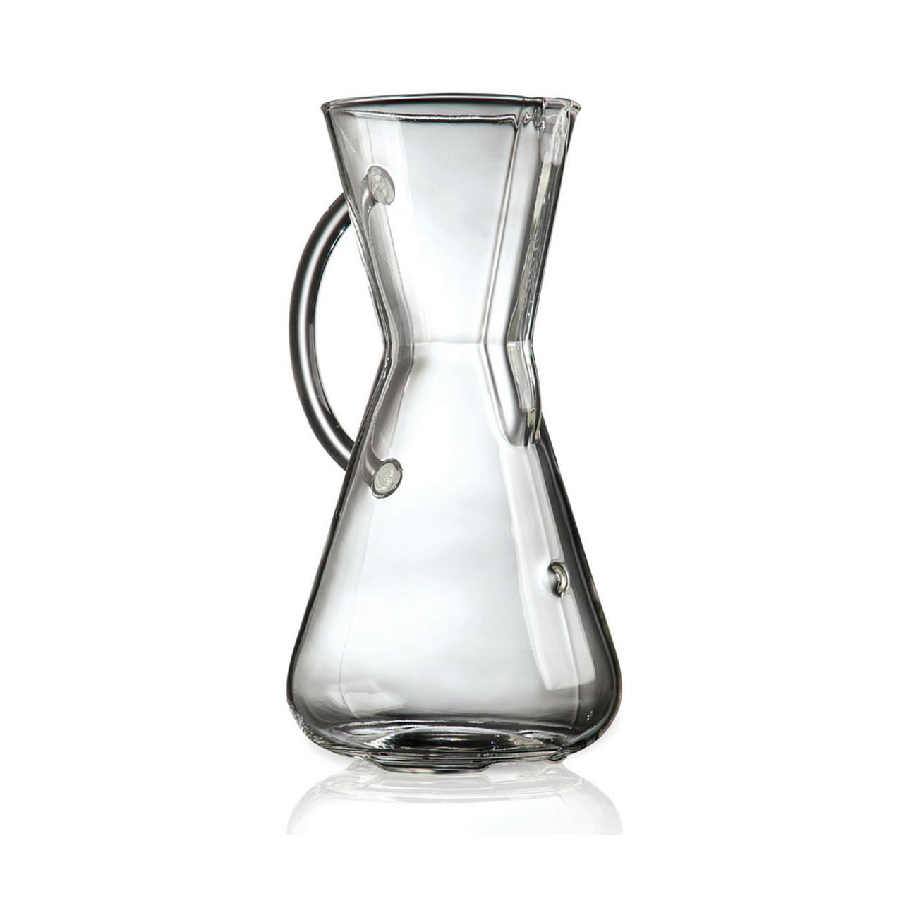 3 Cup Chemex Coffee Maker, Glass Handle