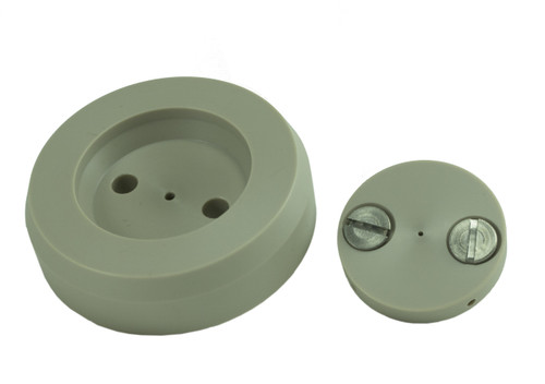 PEEK Dispersion base and plate with O-rings and screws