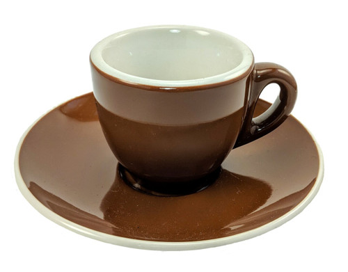 Revolution Classic Cup & Saucer Set, Brown - SECONDS
