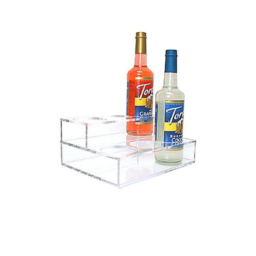 Acrylic Syrup Rack, 6 Bottle/2 Tier