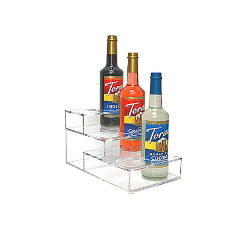 Acrylic Syrup Rack, 6 Bottle / 3 Tier