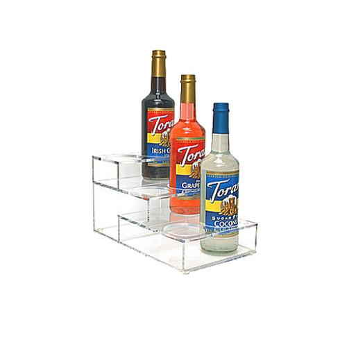 Acrylic Syrup Rack, 6 Bottle / 3 Tier