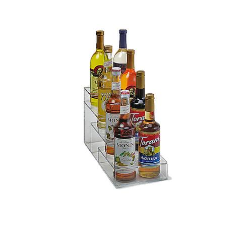 Acrylic Syrup Rack, 8 Bottle / 4 Tier