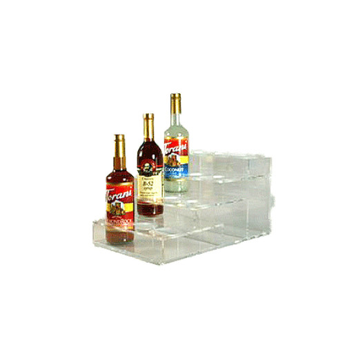 Acrylic Syrup Rack, 12 Bottle / 4 Tier