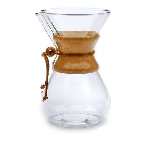 8 Cup Chemex Coffeemaker, Wood Handle