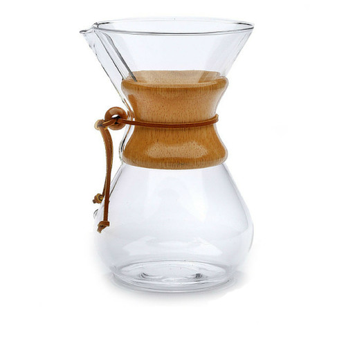 8 Cup Chemex Coffeemaker, Wood Handle