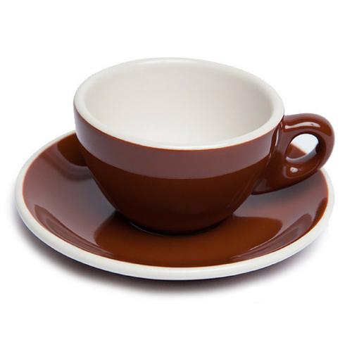Renaissance Cup & Saucer, 10 oz, Brown