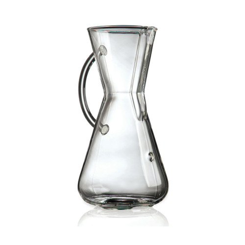 3 Cup Chemex Coffee Maker, Glass Handle