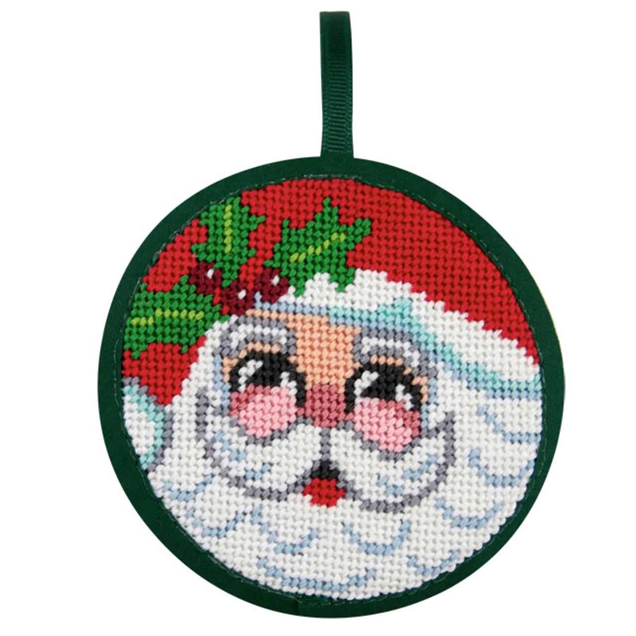 Ho Ho Ho Santa Christmas Ornament Needlepoint Kit