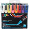 Posca Acrylic Paint Marker Set 16-Color Medium