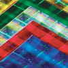 Hygloss Self-Adhesive Holographic Paper Plaid 5pk 8.5in x 11in