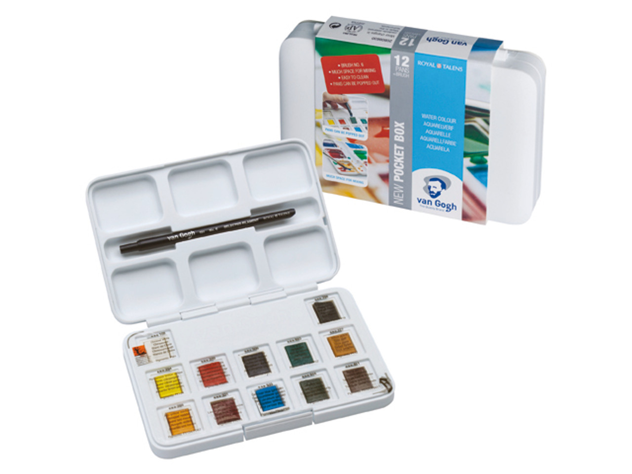 Van Gogh Watercolor Pocket Box 12-Half Pan