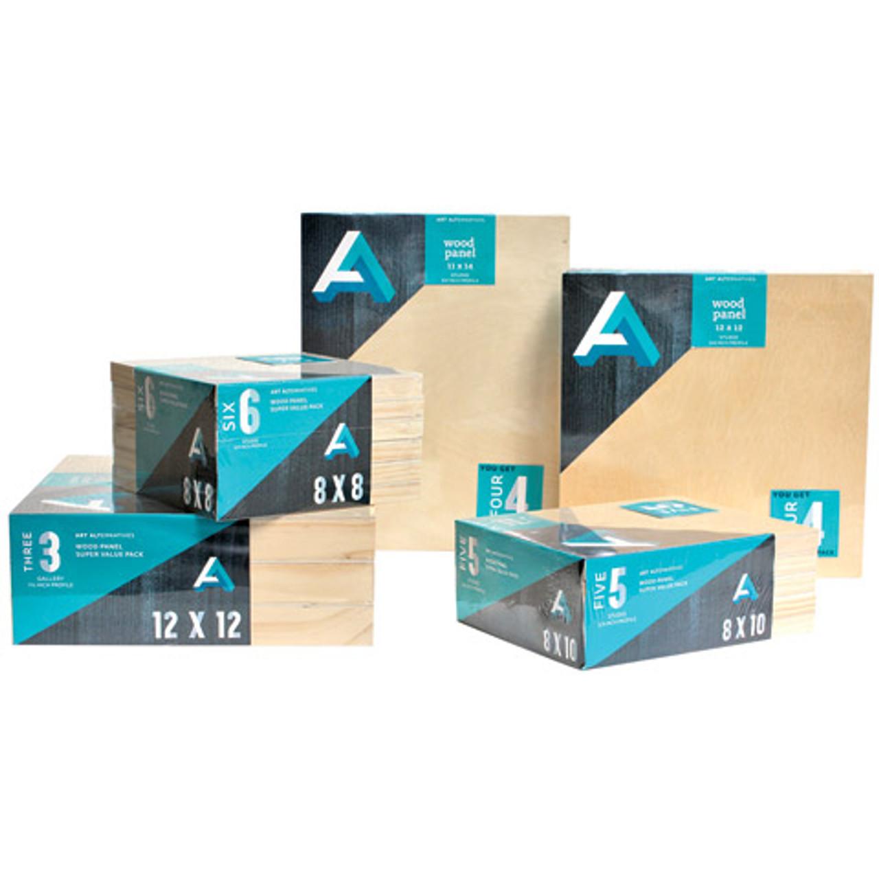Wood Panel Super Value 4-Pack Cradled 12x12