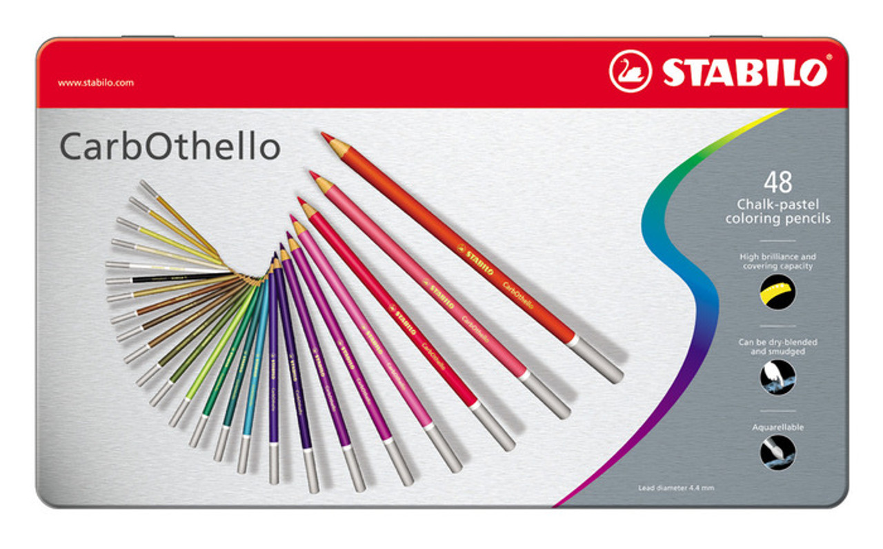 Stabilo Carbothello Metal Box of 48 Assorted