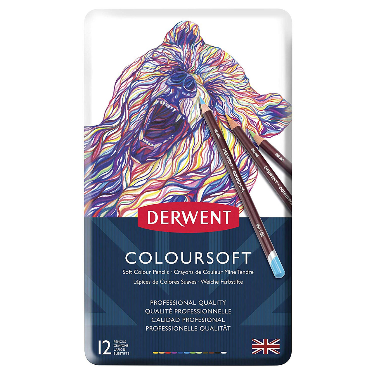 Derwent Coloursoft 12pencil Tin
