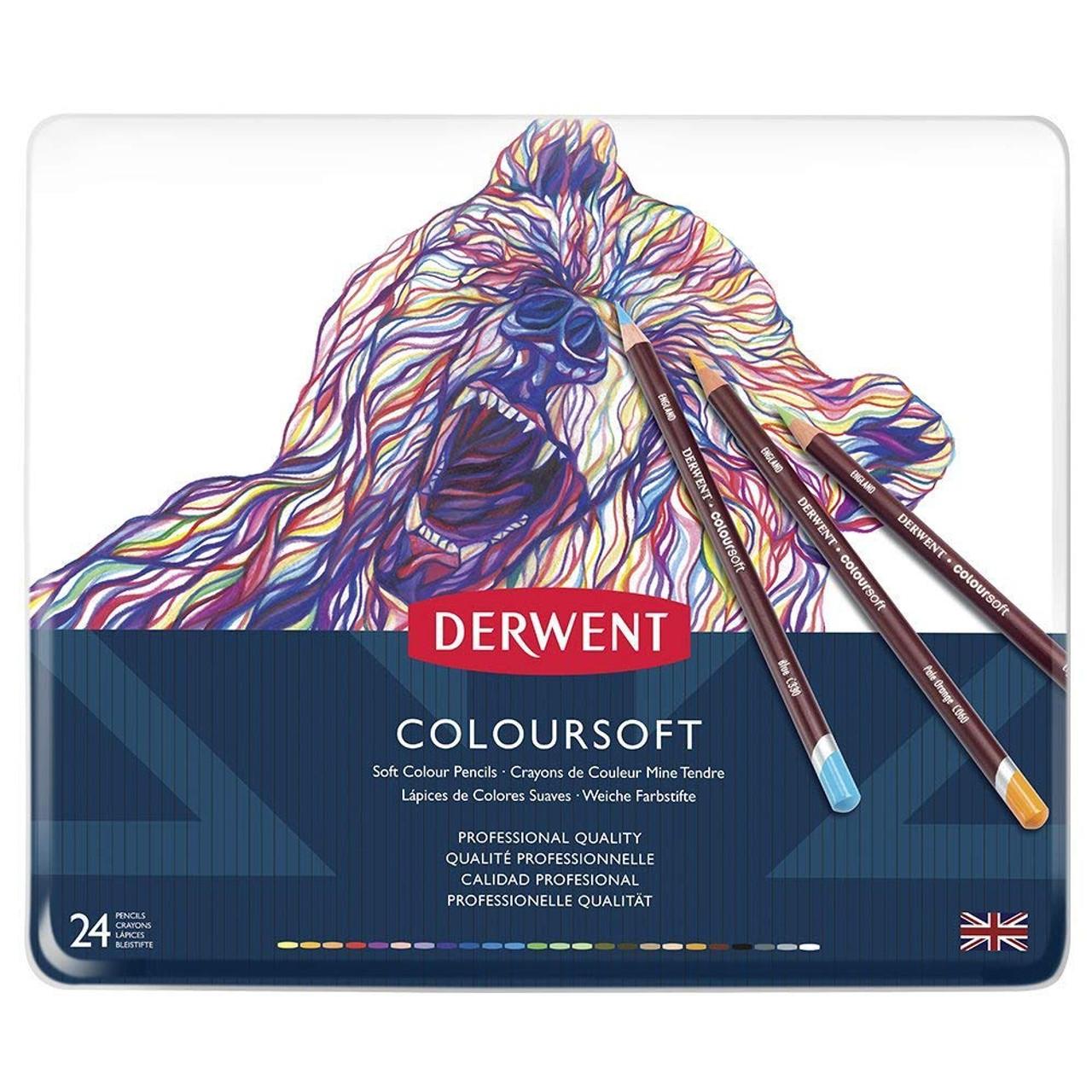 Derwent Coloursoft 24pencil Tin
