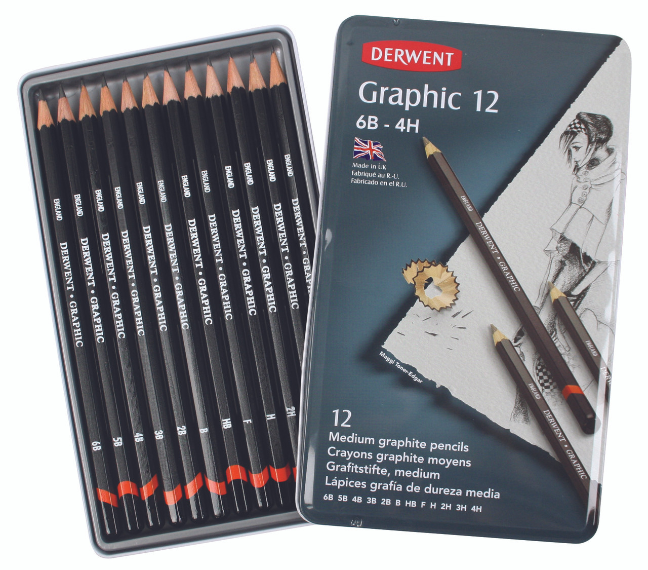 Derwent Graphic Design 12pc Tin
