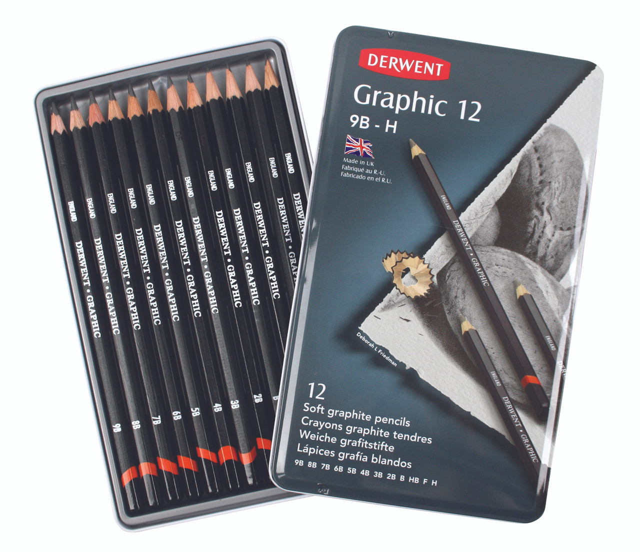 Derwent Graphic Sketch 12pc Tin