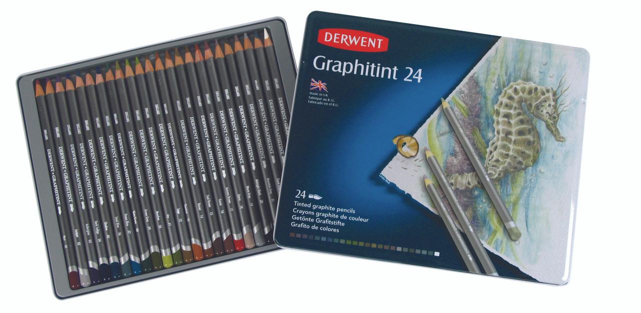 Derwent Graphitint Pencil 24pc Tin