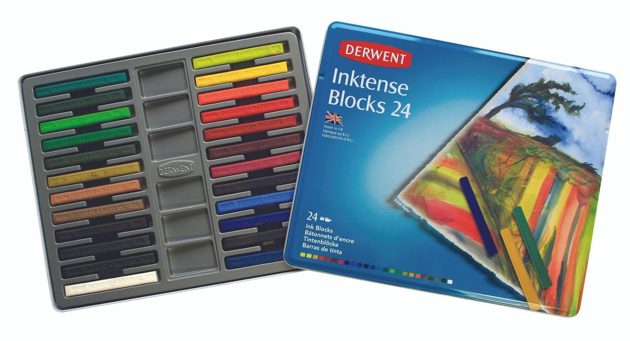 Derwent Inktense Blocks 24pc Tin