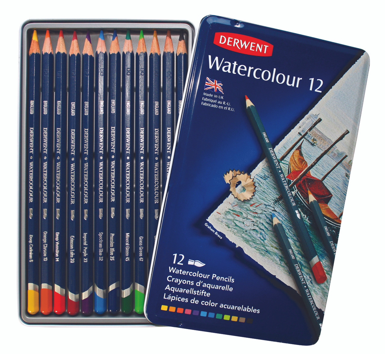 Derwent Watercolor Pencil 12pc Tin