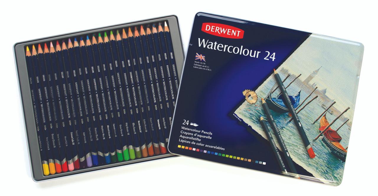 Derwent Watercolor Pencil 24pc Tin
