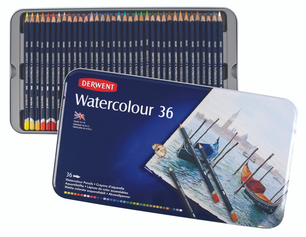Derwent Watercolor Pencil 36pc Tin